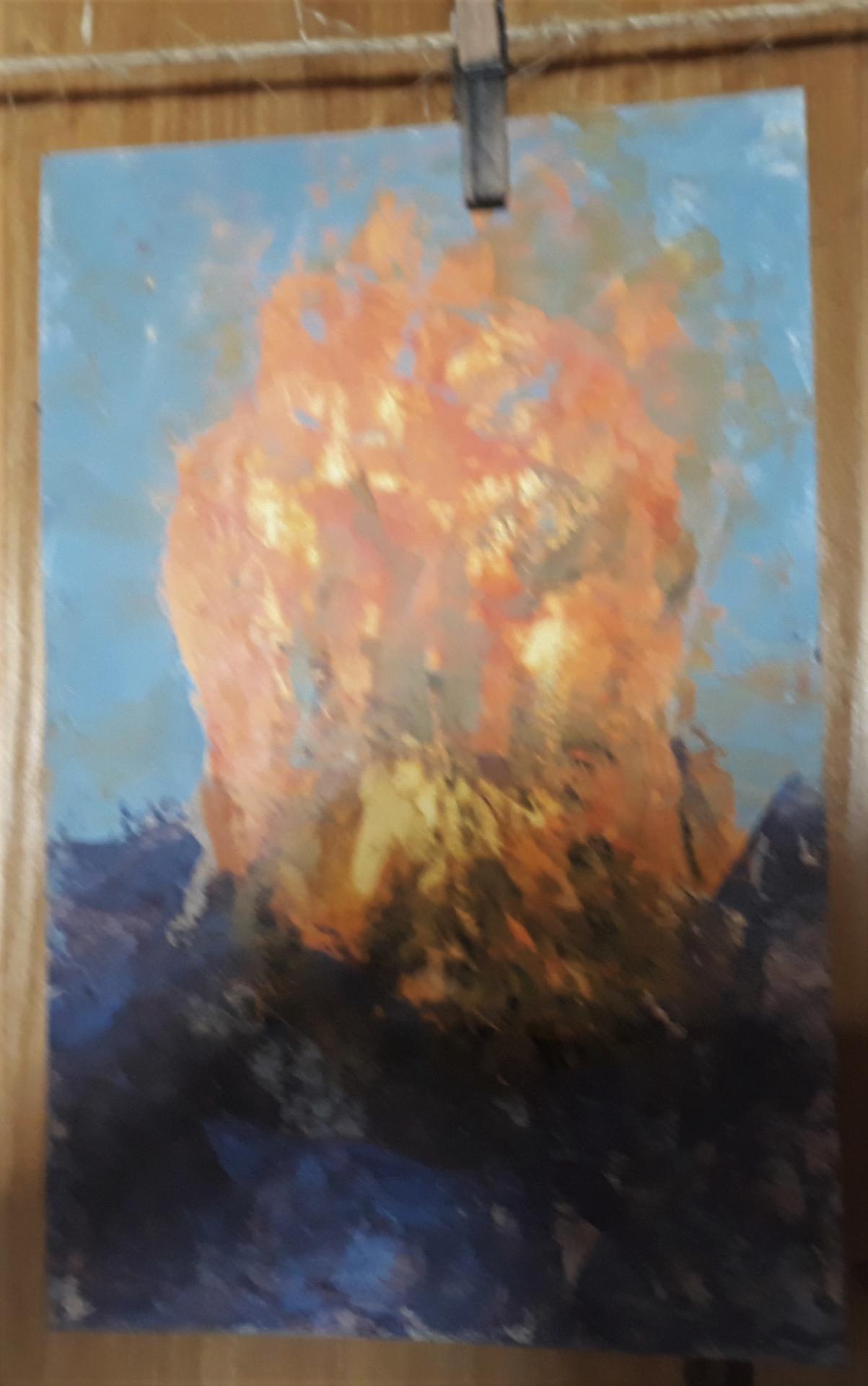 Représenter le feu, avec de la peinture......