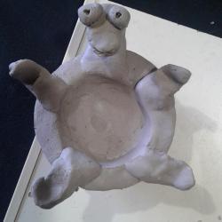La tortue sur le dos...