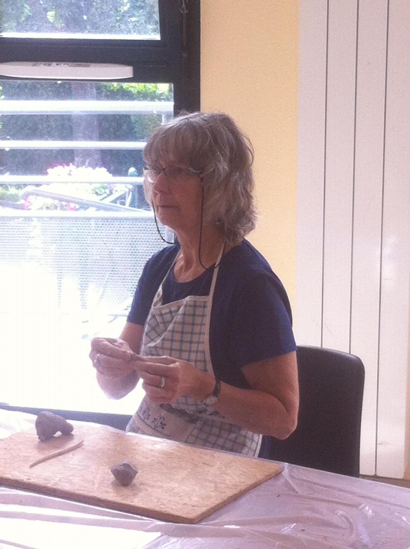 Marie-Made est venue animer l'atelier avec Martine
