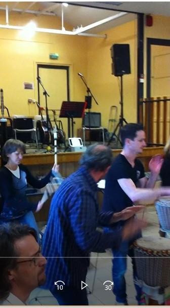 Démonstration des talents des percussionistes, l'après-midi!