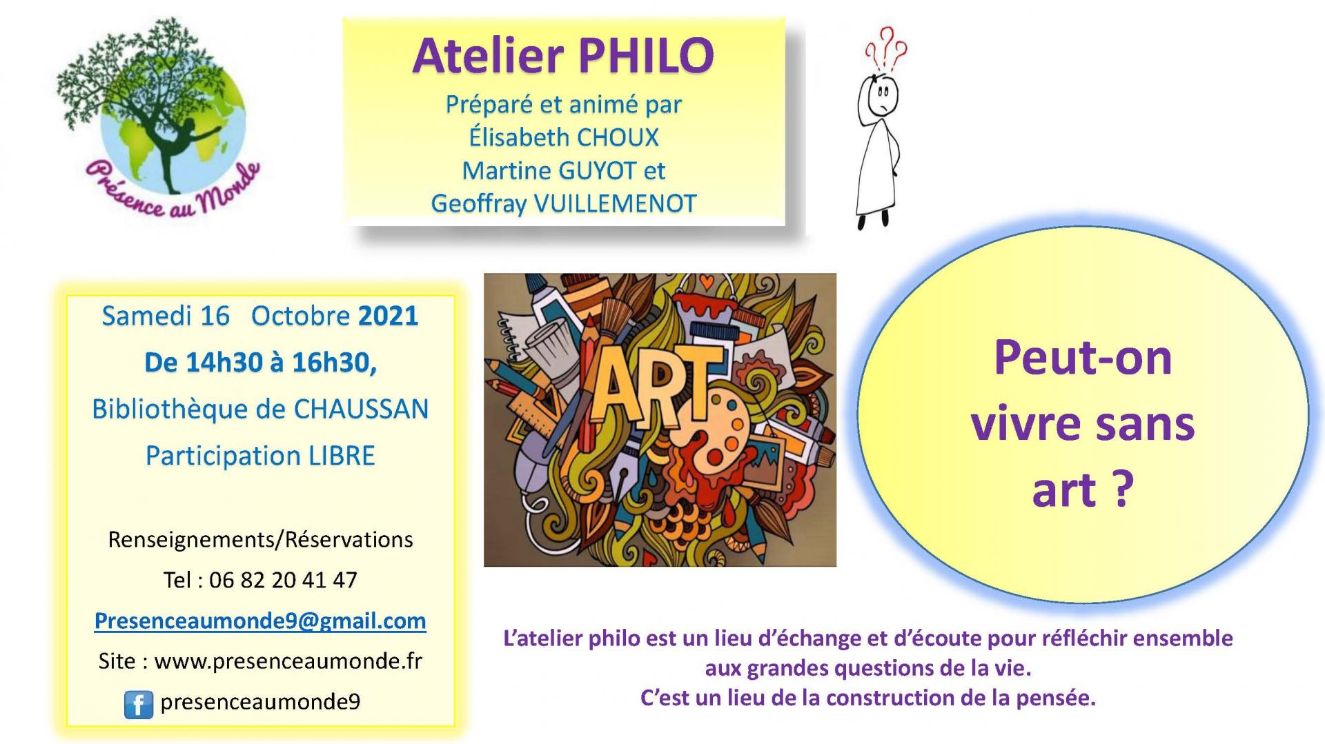 Atelier philo du 16 10