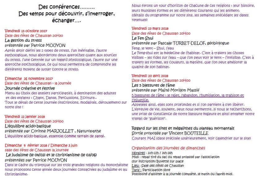 Les conferences 1